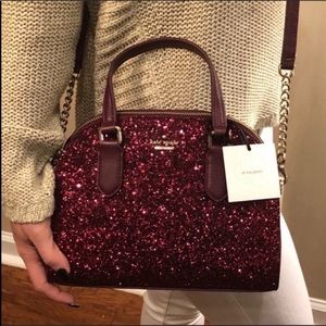 Authentic Kate Spade ♠️ Sparkly Wine Crossbody NWT
